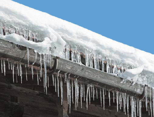 Avoid snow and ice in gutters